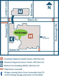 Directions to Southlake receiving department.