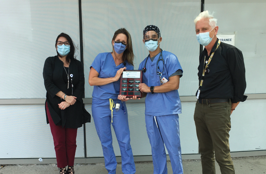 Dr. Eddie Chan and Sarah Widawski, co-captains of Team Trauma Chasers from Southlake's Emergency Department.